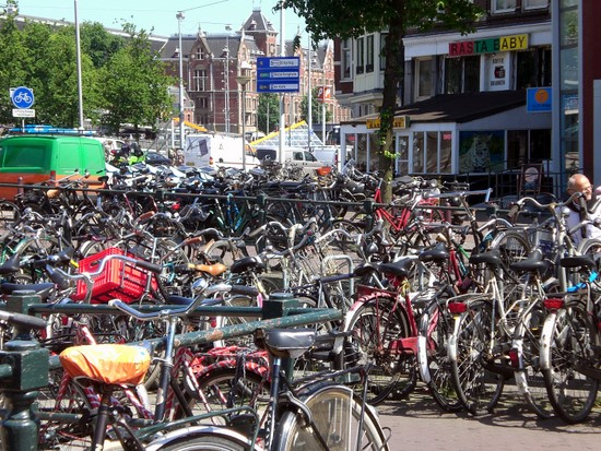 Bicycle parking lot, Amsterdam