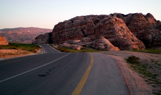 Road leading out of Petra